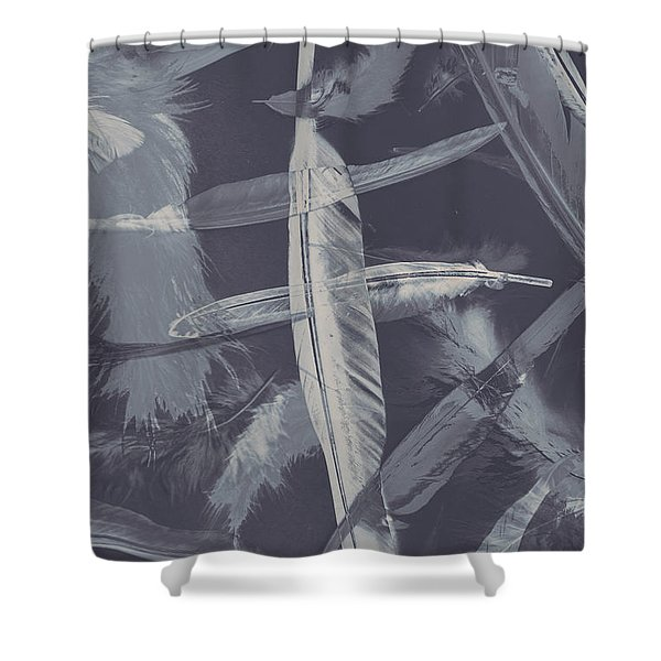 Flying Featherabstract Background Shower Curtain