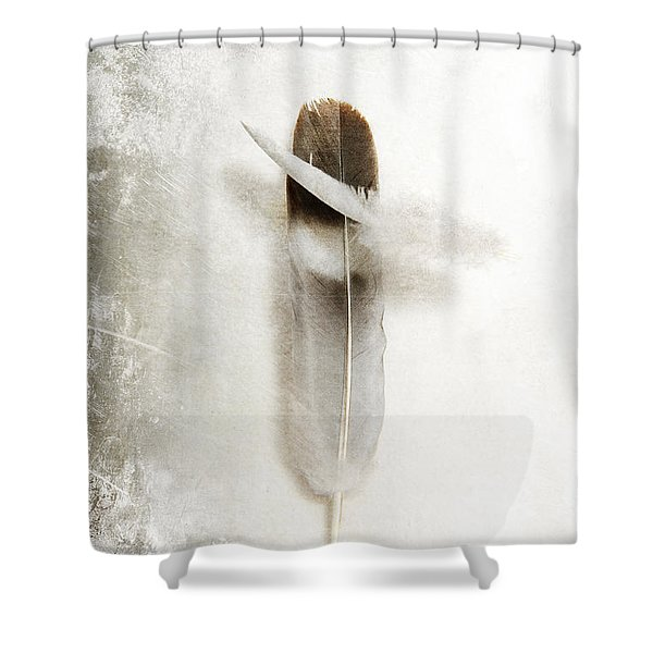 Flying Feathers Shower Curtain
