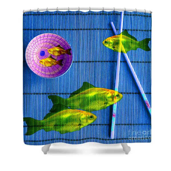 Flying Fish And The Pink Moon Shower Curtain