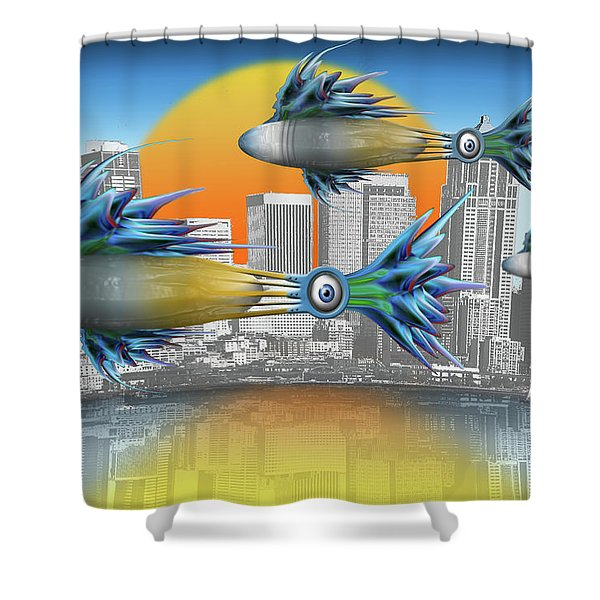 Flying Fisque  Shower Curtain