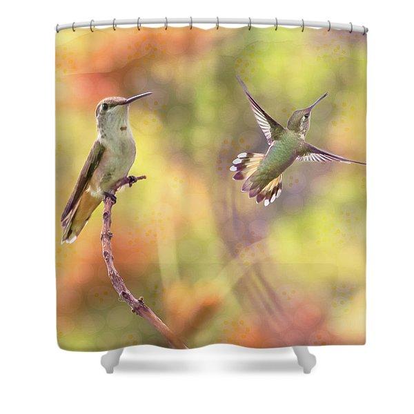 Flying Gems Shower Curtain