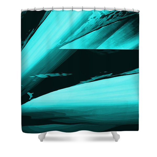 Shower Curtain featuring the painting Flying High by Gerlinde Keating - Galleria GK Keating Associates Inc