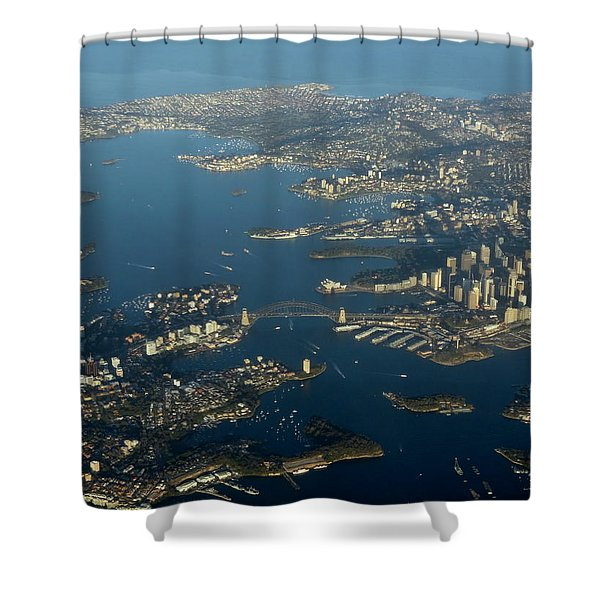 Flying Into Sydney Shower Curtain
