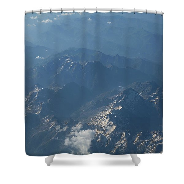 Flying Over The Mountains Shower Curtain