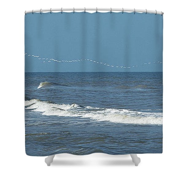 Flying Ribbon Shower Curtain