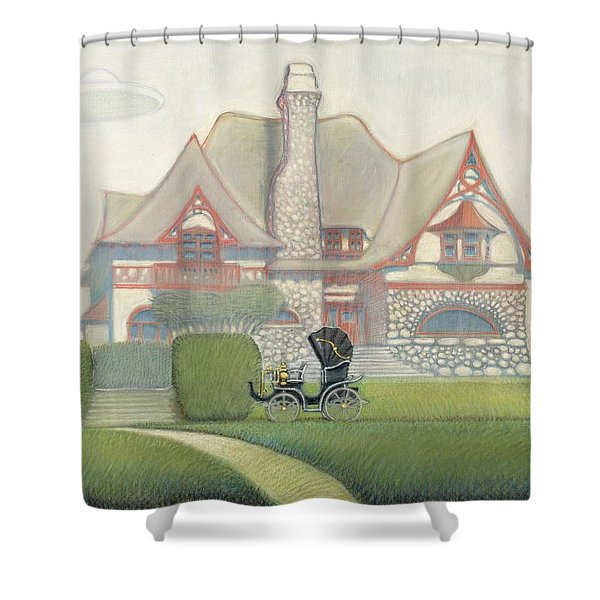 Flying Saucer Shower Curtain