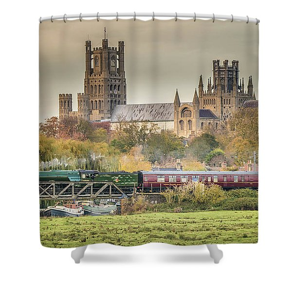 Flying Scotsman At Ely Shower Curtain