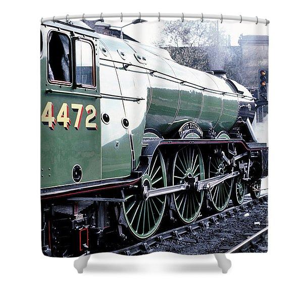 Flying Scotsman Locomotive Shower Curtain
