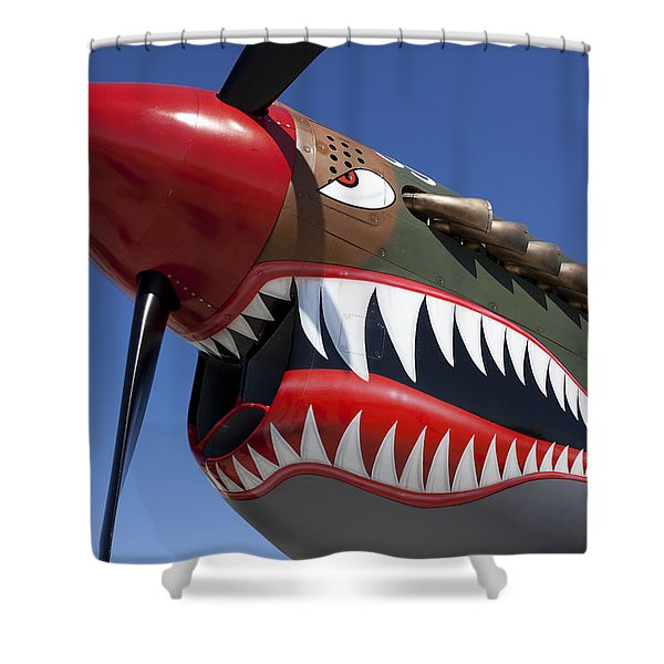 Flying Tiger Plane Shower Curtain