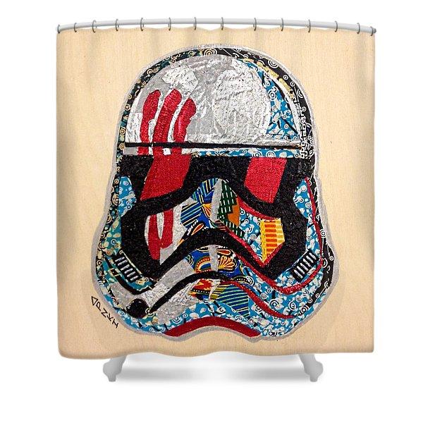 Storm Trooper Fn-2187 Helmet Star Wars Awakens Afrofuturist Collection Shower Curtain