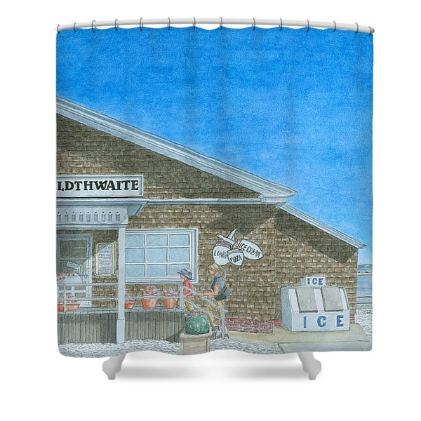 Shower Curtain featuring the painting F.o. Goldthwaite by Dominic White