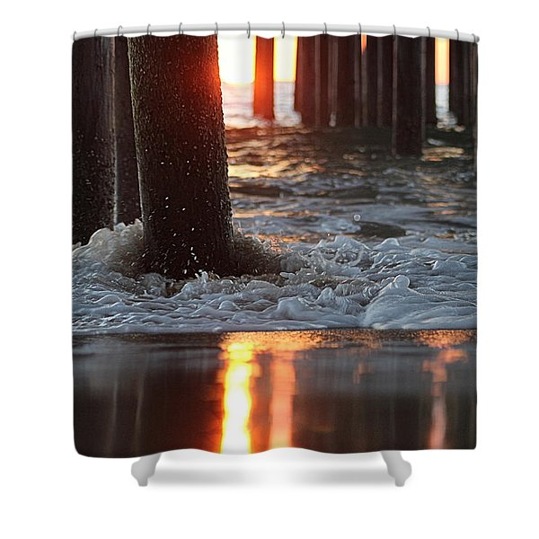 Foamy Waters Under The Pier Shower Curtain