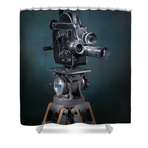 Shower Curtain featuring the photograph Focus In Blue by Break The Silhouette