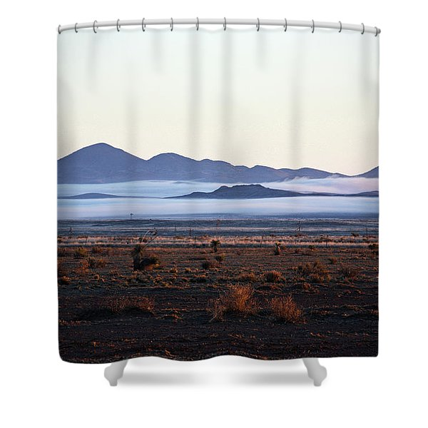Fog In The Peloncillo Mountains Shower Curtain