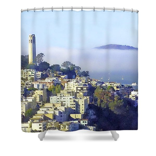 Fog Rolling In Shower Curtain