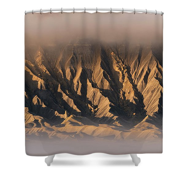 Foggy Butte Shower Curtain