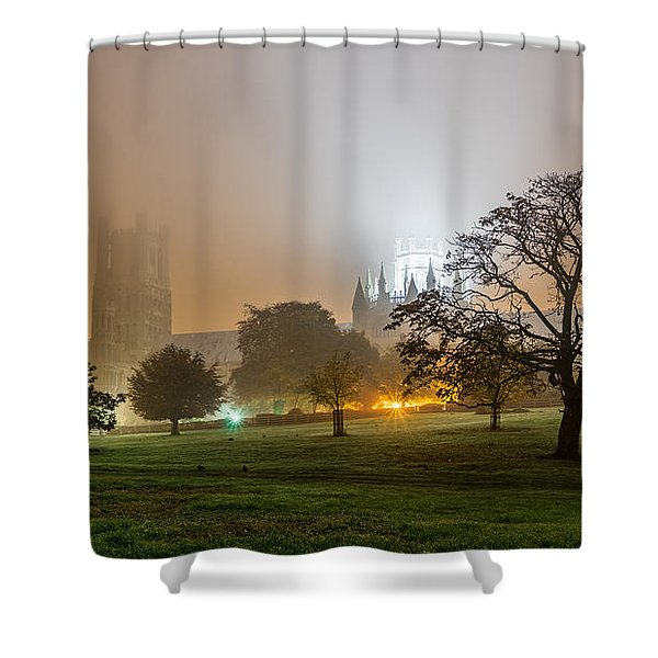 Foggy Cathedral Shower Curtain