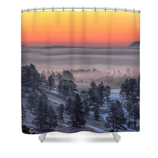 Foggy Dawn Shower Curtain