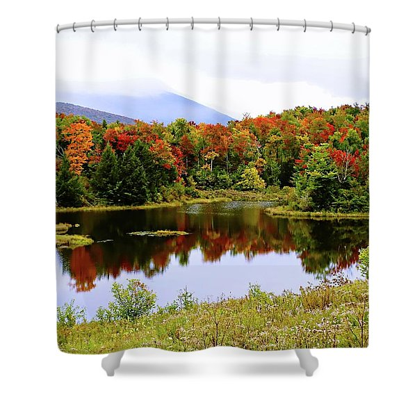 Foggy Day In Vermont Shower Curtain