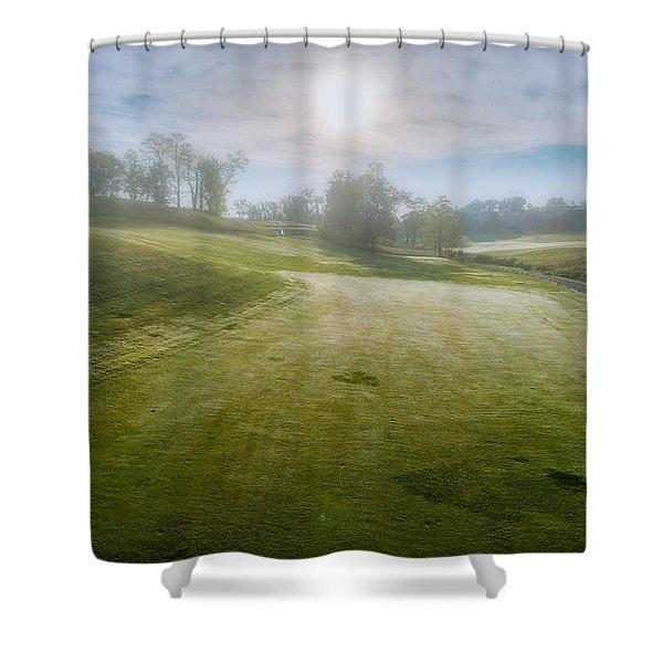 Foggy Look Back Shower Curtain