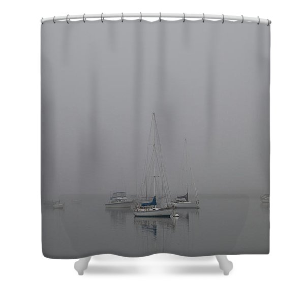 Waiting Out The Fog Shower Curtain