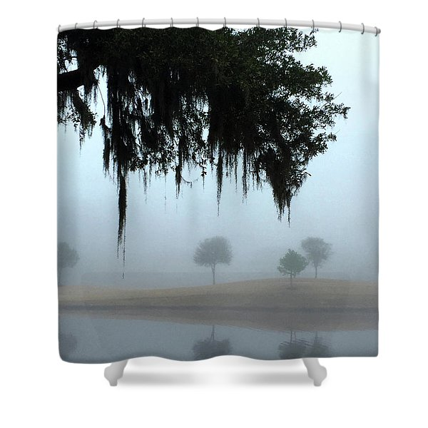 Foggy Morn Reflections Shower Curtain
