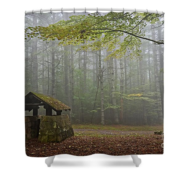 Foggy Morning At Droop Mountain Shower Curtain