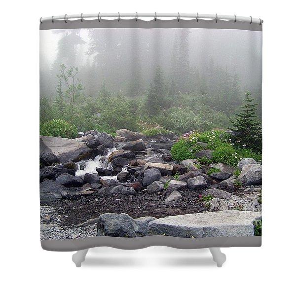 Foggy Morning At Paradise Shower Curtain