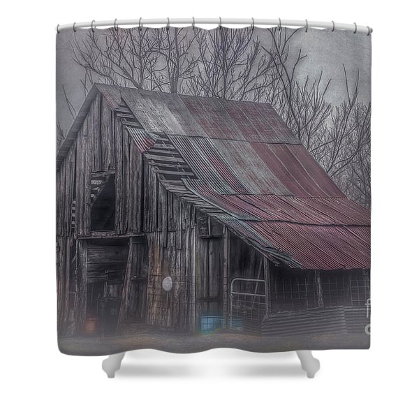 Foggy Morning Backroads Shower Curtain