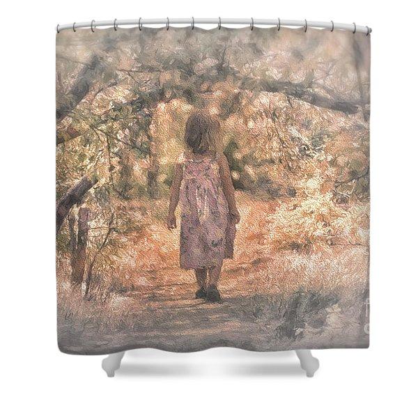 Foggy Morning Light Shower Curtain