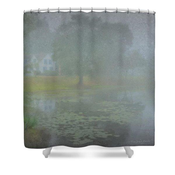 Foggy Morning On Pond Street Shower Curtain