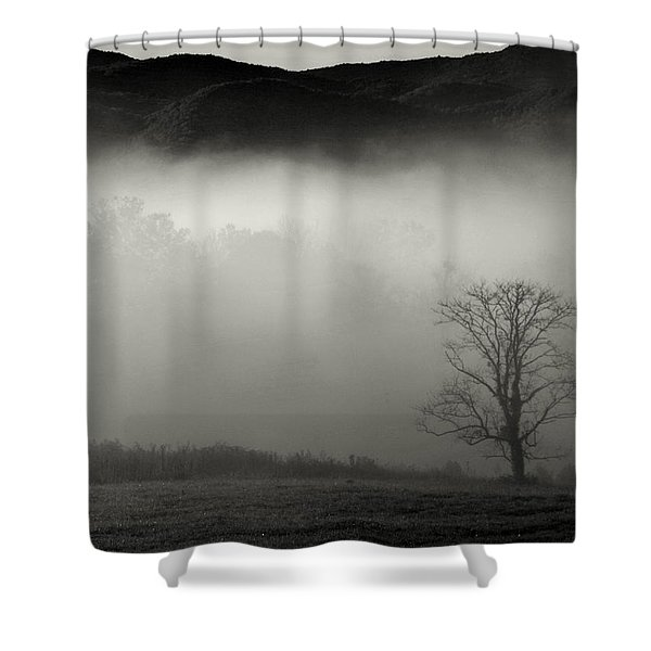 Foggy Mountain-tennessee Shower Curtain