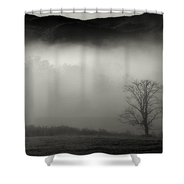 Foggy Mountain-tennessee Shower Curtain