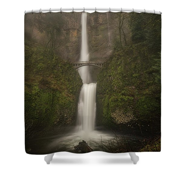 Foggy Multnomah Falls Shower Curtain