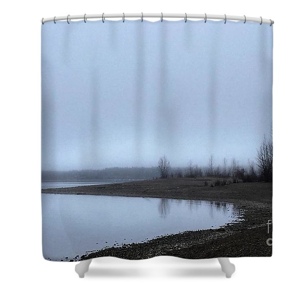 Foggy Water Shower Curtain
