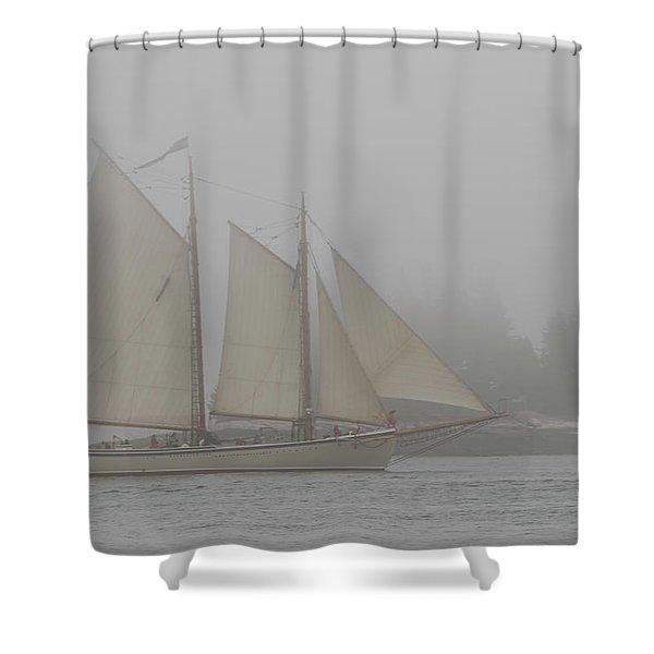 Foggy Windjammer Shower Curtain