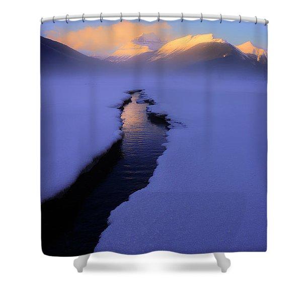 Foggy Winter Days In Banff Shower Curtain