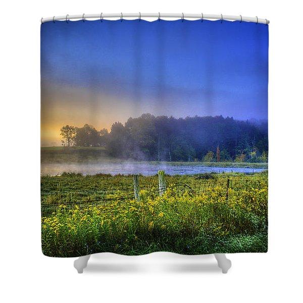 Fogy Sunrise  Shower Curtain