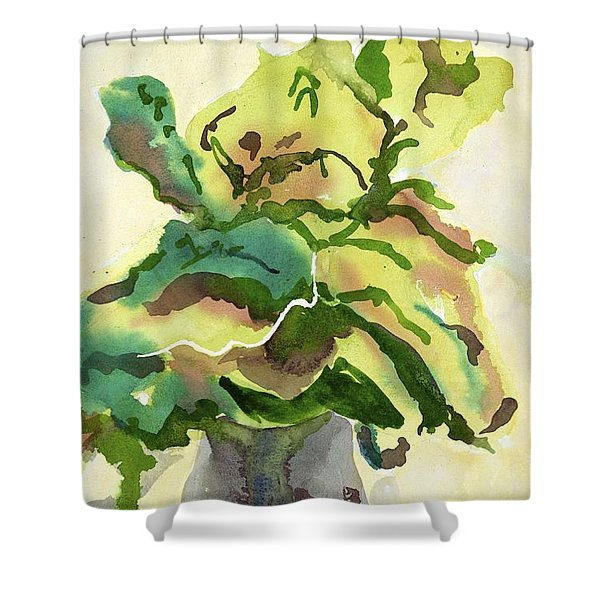 Foliage In Vase Shower Curtain