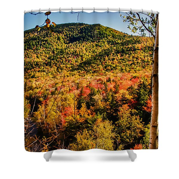 Foliage View From Crawford Notch Road Shower Curtain