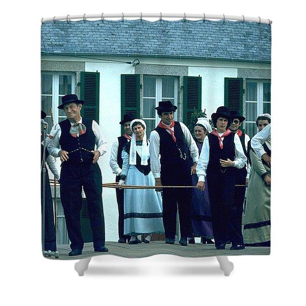 Folk Music Shower Curtain