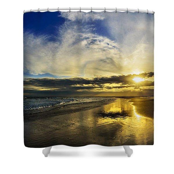 Follow The Sun Shower Curtain