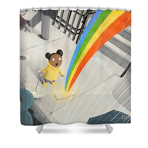 Follow Your Rainbow Shower Curtain