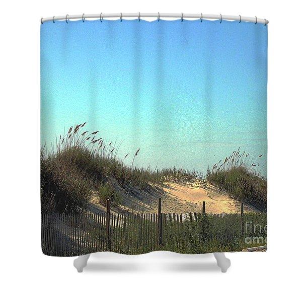 Folly Beach Sc Dunes Shower Curtain