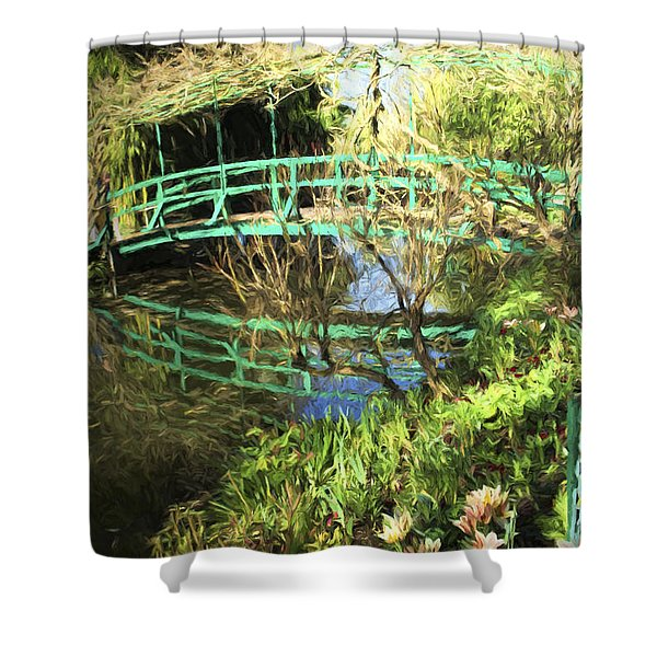 Foot Bridge Reflections In Monet's Garden Shower Curtain