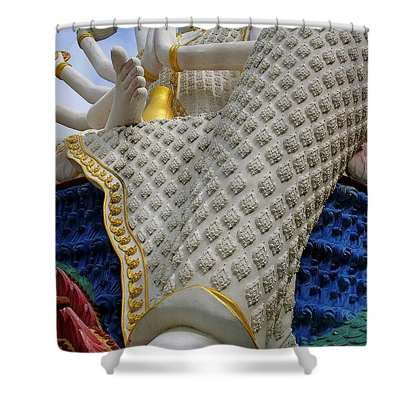 Foot Of Buddha Shower Curtain