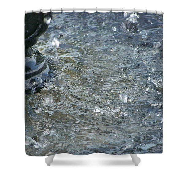 Foot Of The Fountain Shower Curtain
