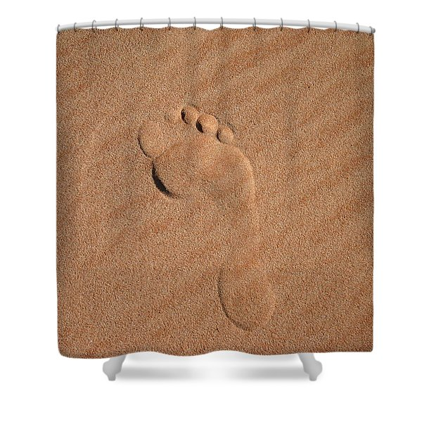 Footprint In The Sand Shower Curtain