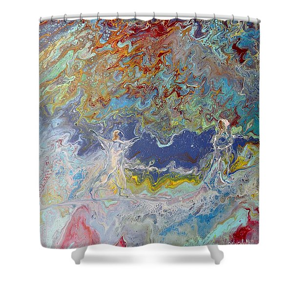 Shower Curtain featuring the painting For All Eternity by Deborah Nell