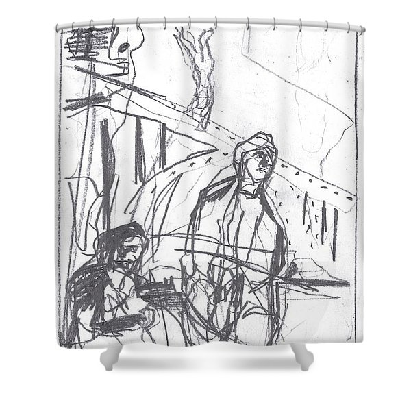 For B Story 4 8 Shower Curtain